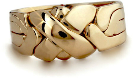 Guldring i 4 delar